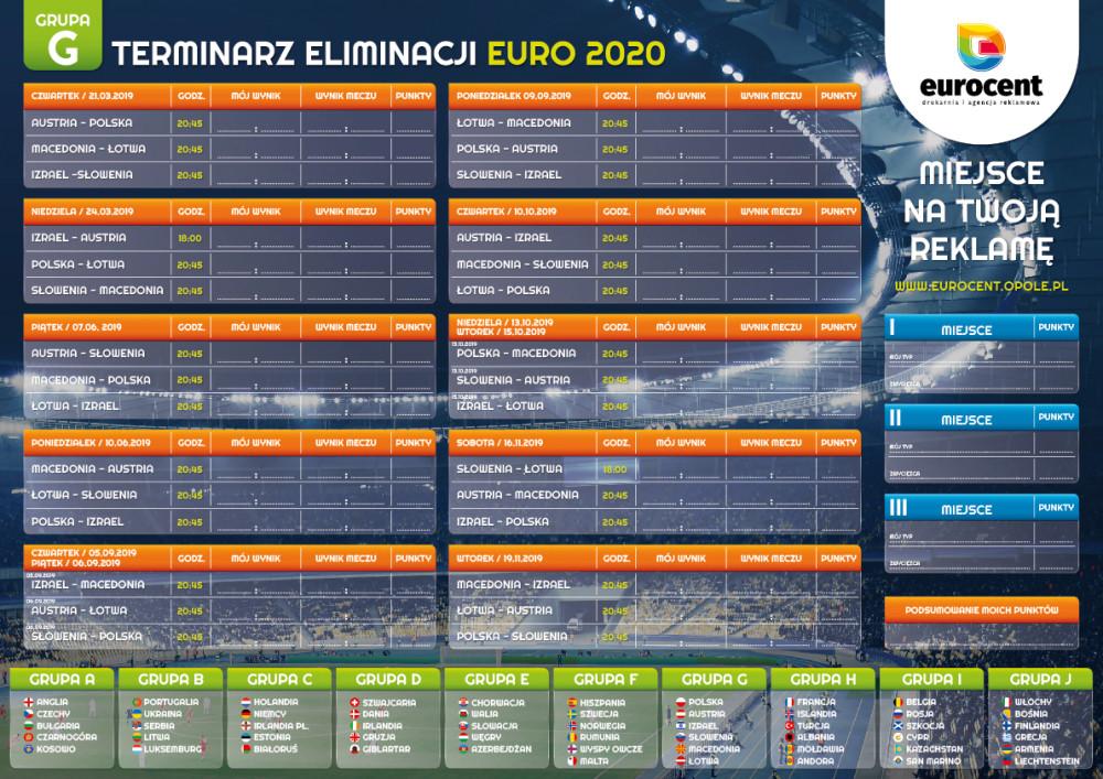 Grupa polska Euro 2020 - terminarz